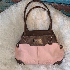 American Living Pink & Brown Shoulder Bag